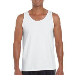 Gildan ujjatlan férfi póló, fehér