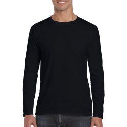 Gildan h. ujjú Softstyle póló, fekete