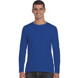 Gildan h. ujjú Softstyle póló, királykék