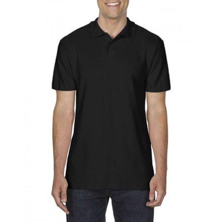 Gildan SOFTSTYLE férfi dupla piké póló, fekete
