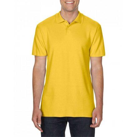 Gildan SOFTSTYLE férfi dupla piké póló, daisy