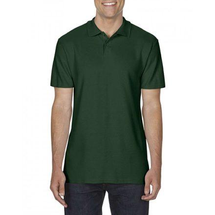 Gildan SOFTSTYLE férfi dupla piké póló, sötétzöld