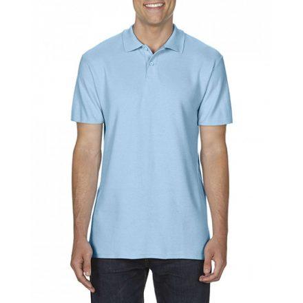 Gildan SOFTSTYLE férfi dupla piké póló, világoskék