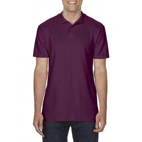 Gildan SOFTSTYLE férfi dupla piké póló, maroon