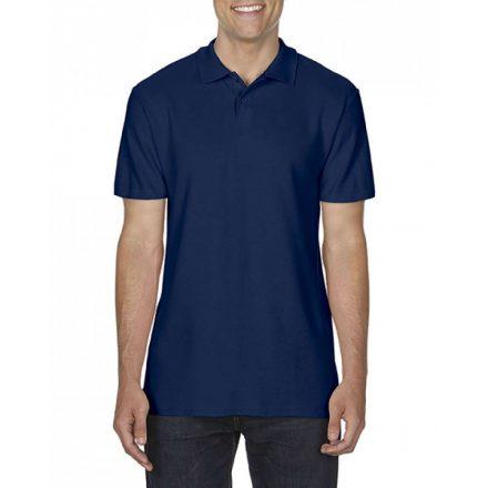 Gildan SOFTSTYLE férfi dupla piké póló, sötétkék
