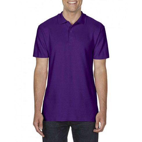 Gildan SOFTSTYLE férfi dupla piké póló, lila