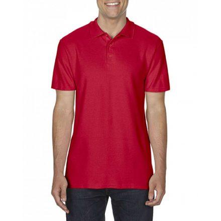 Gildan SOFTSTYLE férfi dupla piké póló, piros