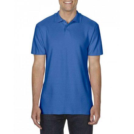 Gildan SOFTSTYLE férfi dupla piké póló, királykék