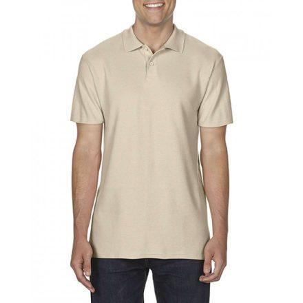 Gildan SOFTSTYLE férfi dupla piké póló, sand