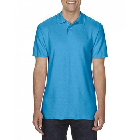 Gildan SOFTSTYLE férfi dupla piké póló, zafír