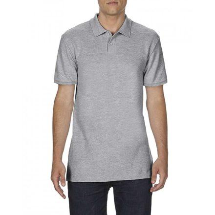 Gildan SOFTSTYLE férfi dupla piké póló, sportszürke