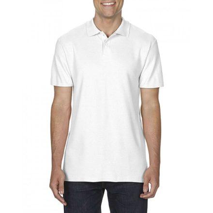 Gildan SOFTSTYLE férfi dupla piké póló, fehér