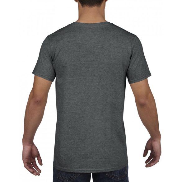 459a7a7b29 Gildan V. nyakú férfi póló, dark heather - poloplaza