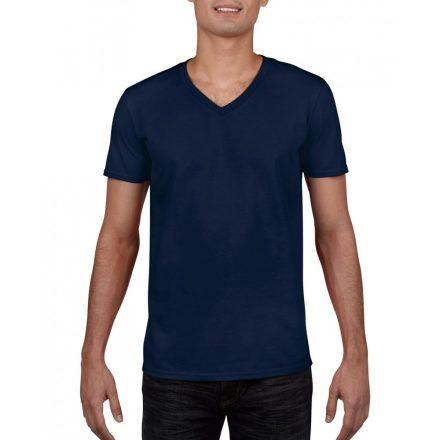 Gildan V. nyakú férfi póló, sötétkék
