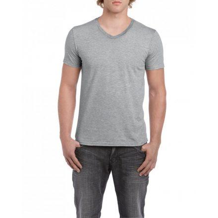 Gildan V. nyakú férfi póló, sportszürke