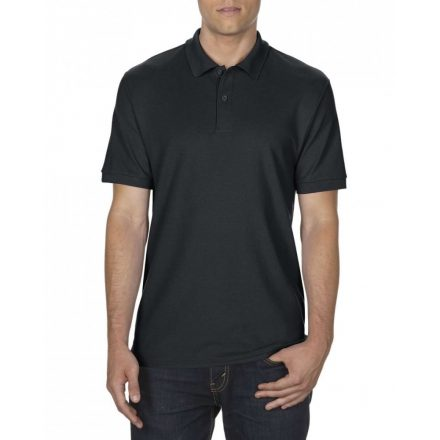 Gildan DryBlend férfi póló dupla piké anyagból, fekete
