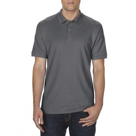 Gildan DryBlend férfi póló dupla piké anyagból, sötétszürke
