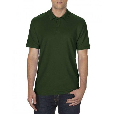 Gildan DryBlend férfi póló dupla piké anyagból, sötétzöld