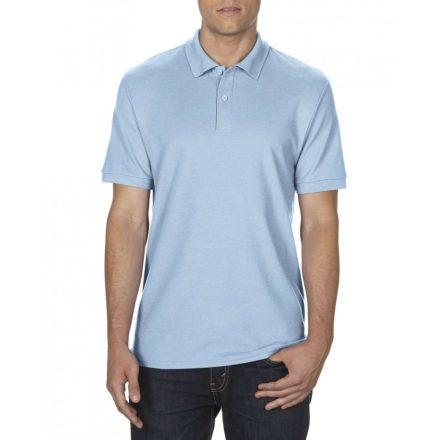 Gildan DryBlend férfi póló dupla piké anyagból, világoskék