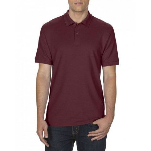 Gildan DryBlend férfi póló dupla piké anyagból, maroon