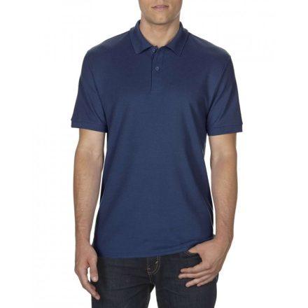 Gildan DryBlend férfi póló dupla piké anyagból, sötétkék