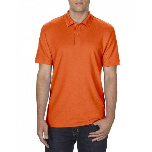 Gildan DryBlend férfi póló dupla piké anyagból, narancs