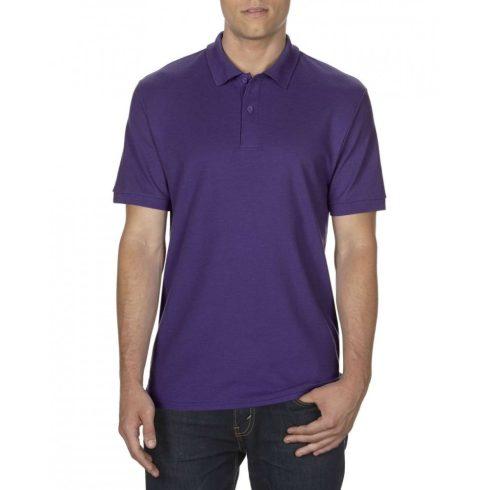 Gildan DryBlend férfi póló dupla piké anyagból, lila