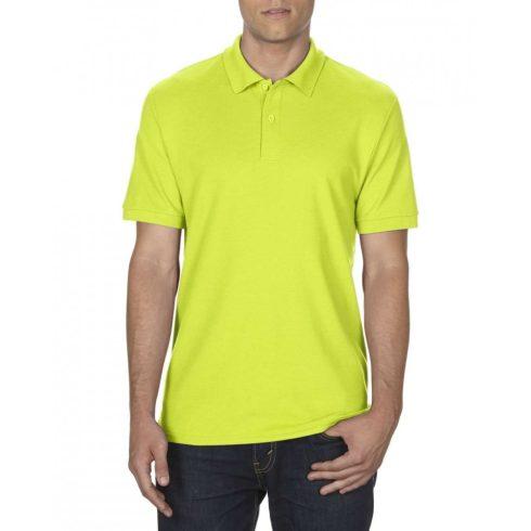 Gildan DryBlend férfi póló dupla piké anyagból, Safety Green
