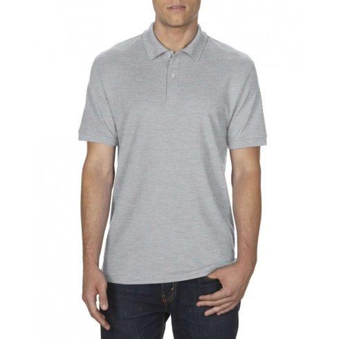 Gildan DryBlend férfi póló dupla piké anyagból, sportszürke