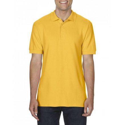Gildan prémium férfi dupla piké póló, gold