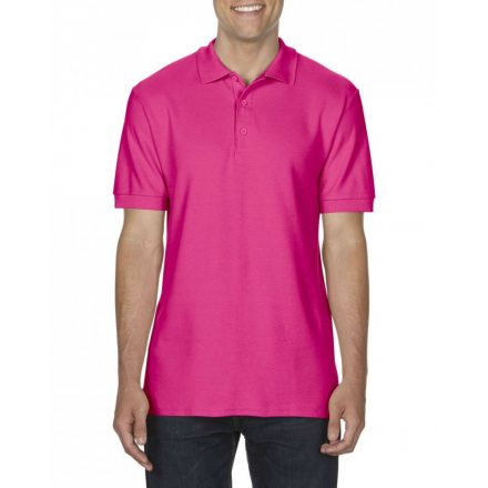 Gildan prémium férfi dupla piké póló, heliconia