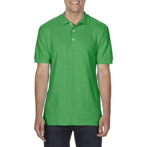 Gildan prémium férfi dupla piké póló, irish green