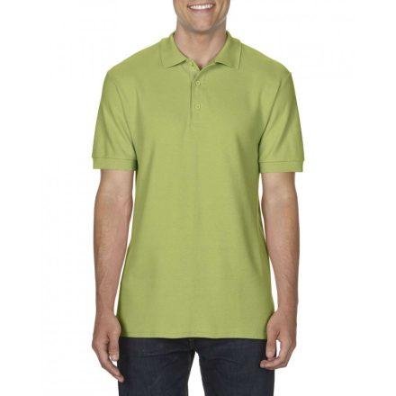 Gildan prémium férfi dupla piké póló, kiwi
