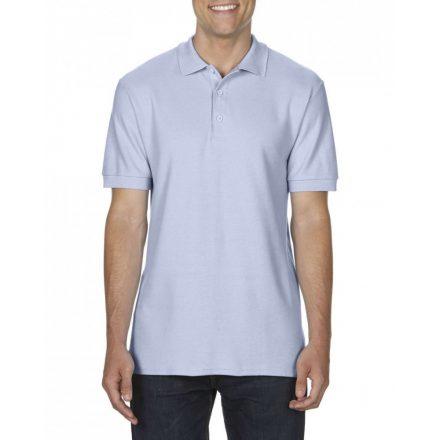 Gildan prémium férfi dupla piké póló, világoskék