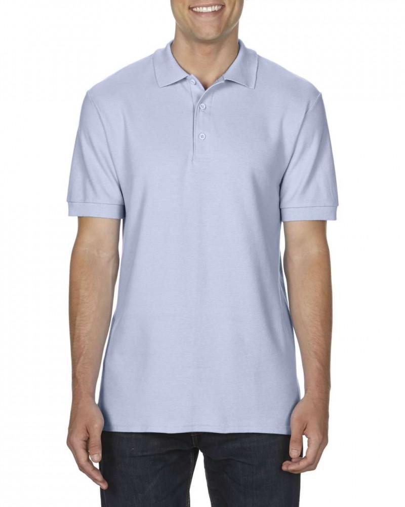 4ee0216650 Gildan prémium férfi dupla piké póló, világoskék - poloplaza