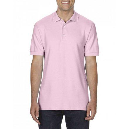 Gildan prémium férfi dupla piké póló, light pink