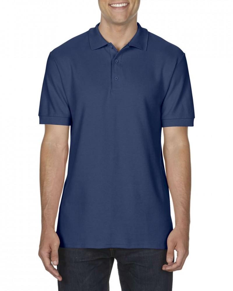f9d43b558a Gildan prémium férfi dupla piké póló, sötétkék - poloplaza