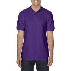 Gildan prémium férfi dupla piké póló, lila