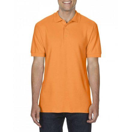 Gildan prémium férfi dupla piké póló, tangeríne