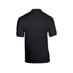 Gildan galléros póló, 50/50, fekete
