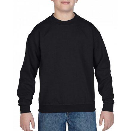 Gildan kereknyakú gyerekpulóver, fekete