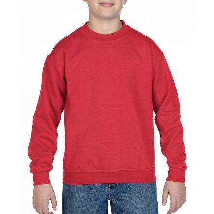 Gildan kereknyakú gyerekpulóver, piros