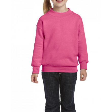 Gildan kereknyakú gyerekpulóver, safety pink