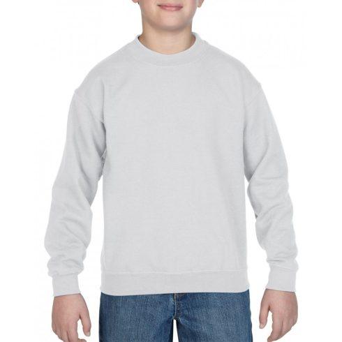 Gildan kereknyakú gyerekpulóver, fehér