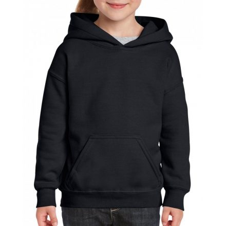 Gildan kapucnis gyerekpulóver, Black