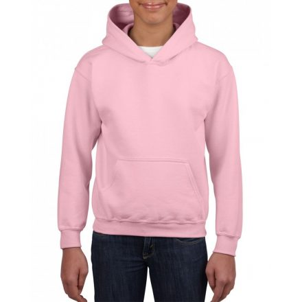 Gildan kapucnis gyerekpulóver, Light Pink