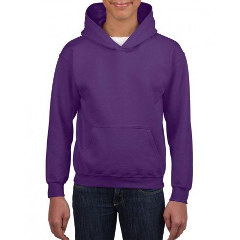 Gildan kapucnis gyerekpulóver, Purple