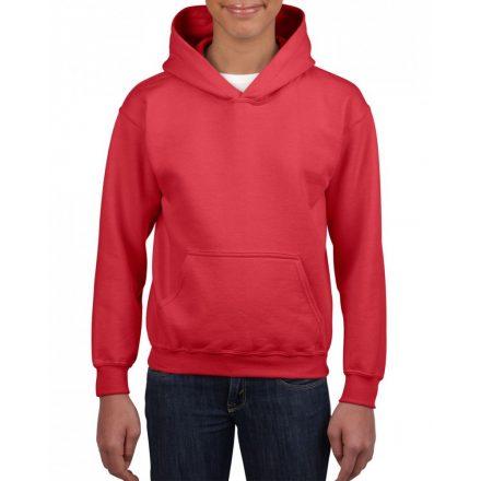 Gildan kapucnis gyerekpulóver, Red