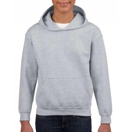 Gildan kapucnis gyerekpulóver, Sport Grey