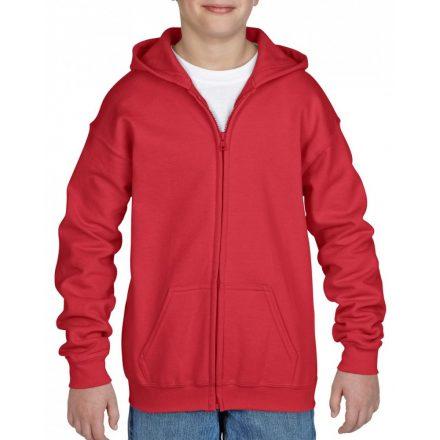 Gildan cipzáras gyerekpulóver, piros